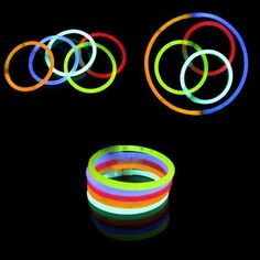 10pcs/set Funny Glow Fluorescence Light Sticks Bracelets Necklaces Neon for Children luminous LED toys Novelty Night Light