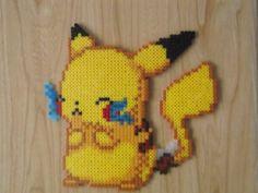Cute Pikachu Perler Beads by CrazyHamaGuyBeads on Etsy