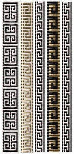 off loom beading techniques Loom Bracelet Patterns, Bead Loom Bracelets, Bead Loom Patterns, Peyote Patterns, Weaving Patterns, Cross Stitch Patterns, Jewelry Patterns, Geometric Patterns, Loom Bands