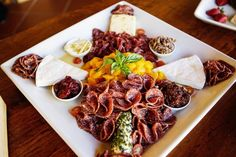 Harvest Table Meat and Cheese Platter Meat Cheese Platters, Meat And Cheese, Picnic Foods, Tasting Room, Wines, Catering, Harvest Tables, Yummy Food, Delicious Food
