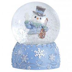 Annual Snowmen with Violin Waterball