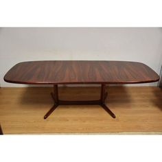 rasmus mid century modern danish teak expandable dining table