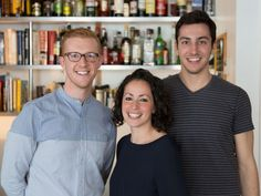 Left to right: Food Editor Ben Mims, Test Kitchen Director Farideh Sadeghin, Test Kitchen Assistant Jake Cohen