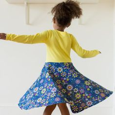 """""""Roots and STEMs"""" Math Garden Twirly Play Dress with Long Sleeves"""