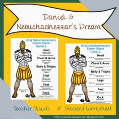 Bible Lesson and FREE Printable: Daniel & Nebuchadnezzar's Dream