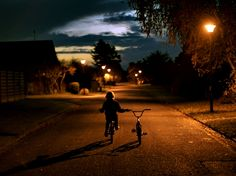 You know the rule: as soon as those street lights come on, your ass better be home - said every parent.