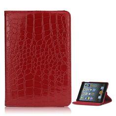 Mesh - iPad Mini 3 Hoes - Cover Krokodil Rood | Shop4TabletHoes