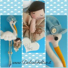 Cicogna shabby chic www.dolcefeltro.it