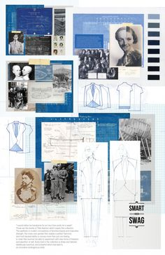 Fashion Portfolio - tailored androgynous fashion design board - historical theme development; fashion drawings; fashion sketchbook // Kittiya Punprapun