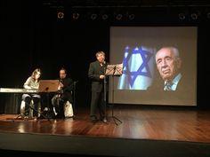 A comunidade judaica lotou o Teatro Anne Frank de A Hebraica para prestar sua homenagem a um dos maiores ícones da História israelense.