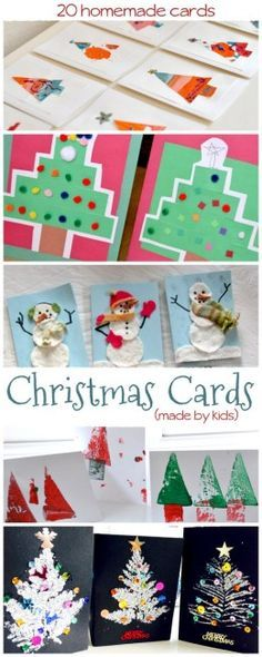 Adorable Christmas cards made by kids!