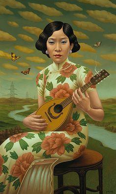 artisticmoods:The Mandolin, byAlex Gross.