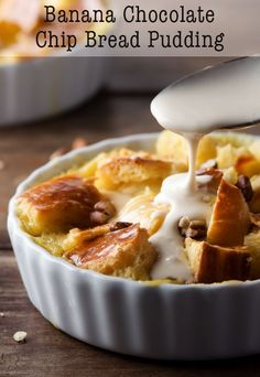 Is there anything more comforting than a warm bowl of bread pudding? I think not! Our Banana Chocolate Chip Bread Pudding is not only tasty, but it's also a great way to use up stale bread and bananas that are a bit past their prime.