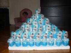 cartes 5 x 10 m rouleaux découpe Satin Teddy ruban bleu baptême naissance gâteaux