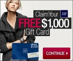 GAP is giving away 400 FREE Gift Cards to Pinterest users! GO TO http://gapin.tumblr.com/?1 and get yours!