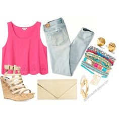 """""""Summer Outfit"""" by alyssanicolesmith on Polyvore"""