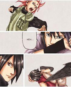 Sasuke being proud of his girls!