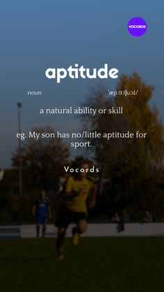 a natural ability or skill Beautiful Words In English, Interesting English Words, Learn English Words, English Idioms, English Phrases, Good Vocabulary Words, English Learning Spoken, Advanced English Vocabulary, Idioms And Phrases