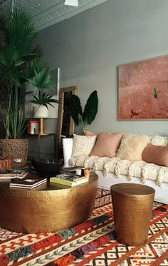 decor home I love this Bohemian interior design and this room is a beautiful part of a bohemian home decor theme. I love the bold colors mixed in with ecletic bohemian wall art and Bohemian decorative accents. A Gallery of Bohemian Bedroom decor home Decoration Inspiration, Interior Inspiration, Decor Ideas, Room Ideas, Decorating Ideas, Decorating Websites, Boho Inspiration, Bohemian Interior Design, Bohemian Decorating