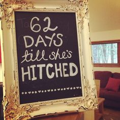 Hen Batchelorette Party Idea. Vintage Frame. Rustic Chic.                                                                                                                                                      More