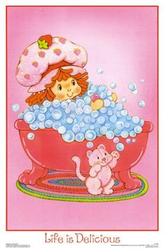 Strawberry Shortcake -Originally created in 1977 as a greeting card character (I actually still have a greeting card from the early 80s given to me as a child from my aunt) Strawberry short cake was then branched out into toys, stickers and a cartoon show in 1981. Today they now have a re-made modern version on tv of her.