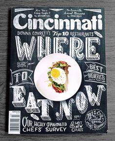 Cincinnati Magazine Cover Typography Inspiration