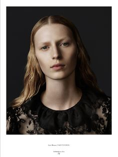 Back to Black. Model Julia Nobis looks like a modern day Dutch painting in a wardrobe of deep blacks and sculpted light. Photos by Christopher Ferguson for Stonefox Magazine