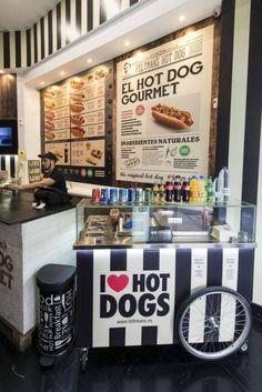 Feltmans Source by artegospel… Gourmet Hot Dogs, Hot Dog Wagen, Hot Dog Restaurants, Coffee Food Truck, Restaurant Streets, Custom Bbq Pits, Hot Dog Toppings, Container Restaurant, Fast Food Menu