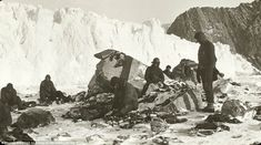 Remarkable tale of survive. This is the scene on Elephant Island after the release of the ...