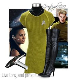 """""""Star Trek"""" by countrygal-880 ❤ liked on Polyvore featuring STELLA McCARTNEY, Plantronics, women's clothing, women's fashion, women, female, woman, misses and juniors"""