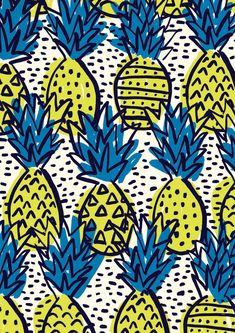 #minakani #pineapple #ananas #palms #hairdo #tiki #pattern