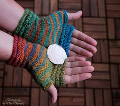 "Fingerless mittens ""Stripesation #2"", handknit fingerless gloves, wrist warmers, one-of-a-kind - fine yarn and great fit, orange and purple by KnitographyByMumpitz"
