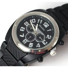 Henley Gents Chrono Effect Black Sports Watch