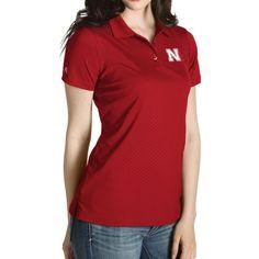 Antigua Women's Nebraska Cornhuskers Scarlet Inspire Performance Polo, Size: Medium, Multi