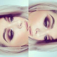 Gorgeous makeup idea #makeup #onpoint eyebrows on fleek ... Pinterest : @imanikeisha