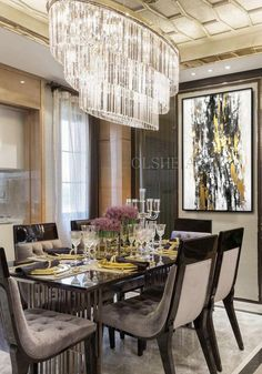 31 Of The Most Brilliant Modern Dining Table Design Ideas - Best Home Ideas and Inspiration Dining Room Lighting, Modern Dining Room, Elegant Dining Room, Stylish Dining Room, Room Design, Luxury Dining, Luxury Dining Room, Luxury Dining Tables, Home Decor