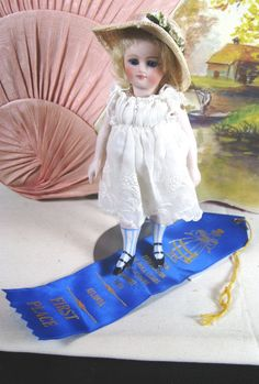 Antique French Mignonette All Bisque CM Doll