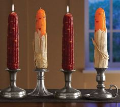 Celebrate Autumn with this Indian Corn Candles