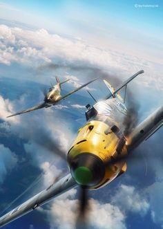 ArtStation – Battle of Britain combat, Piotr Forkasiewicz – Vehicles is art Ww2 Aircraft, Fighter Aircraft, Military Aircraft, Airplane Fighter, Airplane Art, Air Fighter, Fighter Jets, Focke Wulf, War Thunder