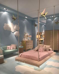 Cute Bedroom Design Ideas For Kids And Playful Spirits teenager zimmer mädchen schmetterlinge wand deko Cute Bedroom Ideas, Girl Bedroom Designs, Awesome Bedrooms, Bedroom Themes, Bed Designs, Kids Bedroom Ideas For Girls, Design Bedroom, Nursery Ideas, Room Kids