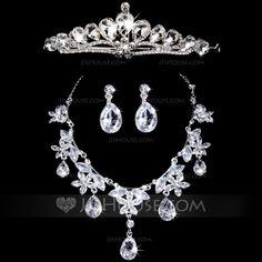 Jewelry+-+$19.99+-+Gorgeous+Alloy+With+Rhinestone+Women's+Jewelry+Sets+(011028535)+http://jjshouse.com/Gorgeous-Alloy-With-Rhinestone-Women-S-Jewelry-Sets-011028535-g28535