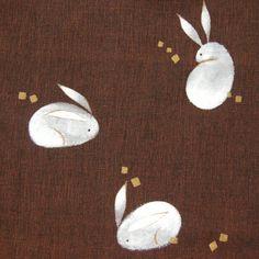 Japanese rabbits pattern あっかの和柄【大福兎柄】
