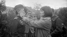 Larisa Shepitko on set during the filming of Wings (1966).