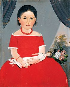 Portrait of a Young Girl Holding a Doll attr. William Matthew Prior c1840 www.fairfieldauction.com