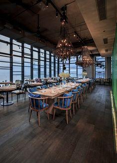 Azzurro restaurant by andrin schweizer company zurich for Seafood bar zurich