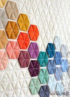"""Милые сердцу штучки: """"Шестигранники (hexagon), немного фантазии и очень много терпения"""""""