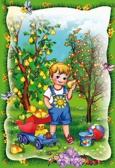 Illusztrátorok Drozdova Olga és Alexei. Vita LiveInternet - orosz Service Online Diaries Christmas Jigsaw Puzzles, Human Drawing, Cartoon Pics, Vintage Cards, Conversation, Art Drawings, Scene, English, Seasons