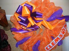 Mesh Wreath -- Clemson University $40