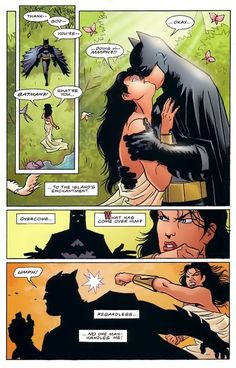 wonder woman and robin | Wonder Woman punching Batman?