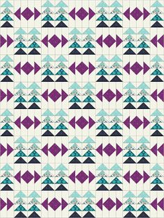 Modern With A Twist :: Flying Geese (Twiggy & Opal) Modern Quilt Blocks, Quilt Block Patterns, Scrappy Quilts, Mini Quilts, Half Square Triangle Quilts Pattern, Flying Geese Quilt, Flower Quilts, Log Cabin Quilts, Landscape Quilts